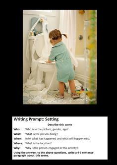 Practice objective note-taking with scenes in pictures or set-ups for demos Photo Writing Prompts, Writing Pictures, Narrative Writing, Writing Lessons, Writing Skills, Writing Workshop, Creative Writing Ideas, Cool Writing, Kids Writing