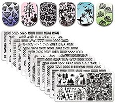 Nails Art & Tools Objective Nicole Diary 5 Pcs Nail Stamp Plates Set Mermaid Vacation Ocean Series Round Stamping Template Kit Manicure Art Printing Stencil
