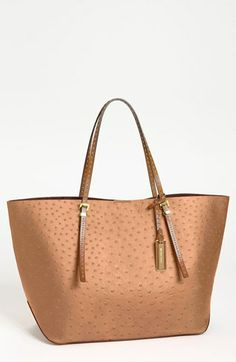 Michael Kors 'Gia' Ostrich Embossed Leather Tote, Extra Large
