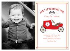 birthday party invitations - Race Car by RedRedOrange