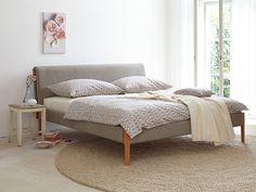 Polsterbett Allora 180x200 cm, mit Bezug Wollstoff Tanaro