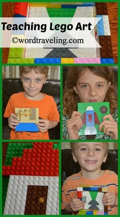 """The first time I considered LEGO as an art form was in response to a television special on LEGO Artists. I was amazed to see what these brilliant people can do with legos as a medium! As I considered ways to bring Legos into our homeschool — I thought, """"Why not art?"""" My children love …"""