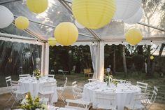 Mariage sous une tente crystal en extérieur