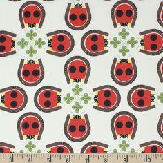 Charley Harper for Birch Organic Fabrics, Backyard, Lucky Ladybug