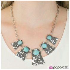 Cougar - blue necklace