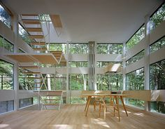 The Ring House, by Takei Nabeshima Architects (TNA). Three floors on a 30 sq m footprint.