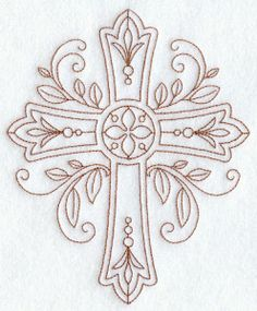 Vintage Embroidery Patterns Machine Embroidery Designs at Embroidery Library! - Religious - Christian (Redwork and Vintage) Vintage Embroidery, Ribbon Embroidery, Embroidery Stitches, Embroidery Sampler, Vintage Sewing, Embroidery Transfers, Machine Embroidery Patterns, Machine Applique, Cross Patterns