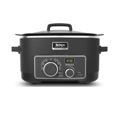 Ninja MC750 Multi Cooker 3 IN 1 Cooking System (Refurbished) (MC750-RB), Black, Size 6-9 Quarts Best Multi Cooker, Best Rice Cooker, Ninja Cooking System, Slow Cooker Bacon, Bacon Wrapped Pork Tenderloin, Instant Cooker, Healthy Meals To Cook, French Dip, Cooking Appliances