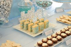 Baby Blue and Silver (Grey) Baptism Party Ideas   Photo 3 of 19   Catch My Party