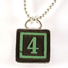 Number 4 Pendant by XOHandworks $20