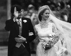 The grandson of Lord Louis Mountbatten, Lord Romsey, marries Penelope Eastwood at Romsey Abbey on 20 Oct 1979