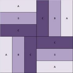 quilt block pattern..this would make a great knitting pattern too. Make four blocks of three colors.