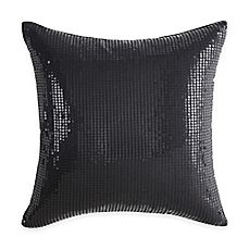 image of Vince Camuto® Basel Sequin Square Throw Pillow in Black