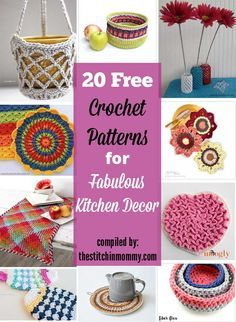 20 Free Crochet Patterns for Fabulous Kitchen Decor compiled by The Stitchin' Mommy | www.thestitchinmommy.com