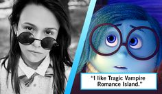 "Who said it: Sadness or a Sad Hipster? Did Sadness from Inside Out say ""I like tragic vampire romance island,"" or a sad hipster? Take the quiz to find out."