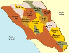Appellations (growing regions) of Sonoma County