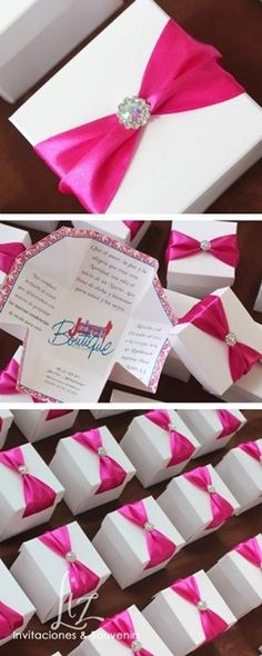Fuscia magic box! Invitacion evento corporativo!    / magic box corporative event invitation.