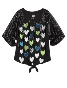 Sequin Sleeve Circle Top