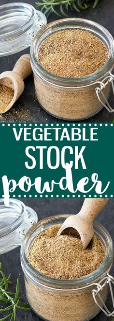 Homemade vegetable stock powder- easy to make and healthier than the store bought one. 100% natural, free of preservative and less sodium. #homemade #vegan #vegetarian #stock #easyrecipe #diygifts