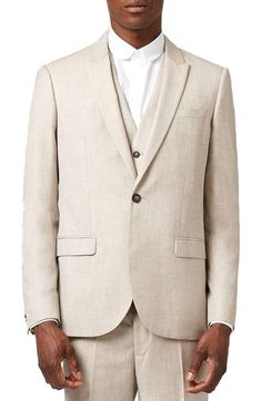 Topman Skinny Fit Crosshatch Suit Jacket available at #Nordstrom