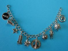 Vintage Sterling Nasa Space Theme Charm Bracelet