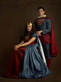 Renaissance Linda Carter as Wonder Woman and Christopher Reeve as Superman by Sacha Goldberger Linda Carter, Superman Wonder Woman, Comic Book Characters, Comic Character, Marvel Dc, Marvel Comics, Univers Dc, French Photographers, Foto Art