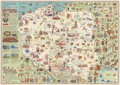 mapa Polski autorzy: Aleksandra i Daniel Mizielińscy, Hipopotam Studio