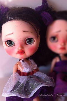 On HOLD.Ana. OOAK custom Icy Doll sister Blythe. by AriadnaSThread