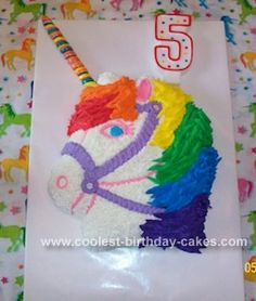 Unicorn -  I think this actually looks like a well made cake, but for some reason it disturbs me lol