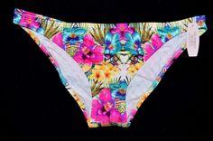 Victoria's Secret Cheeky Floral Ruched Back Bikini Bottom Small S Swim NEW Swim #VictoriasSecret #BikiniBottom