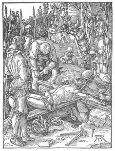 Christ Being Nailed to the Cross (1511) - Albrecht Durer
