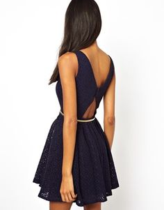 Image 1 ofLittle Mistress Dress With Open Back