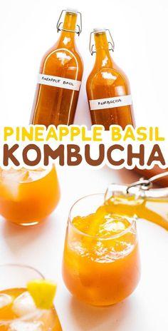 Pineapple Basil Kombucha Looking for a fun new flavor for your homemade kombucha? This Pineapple Basil Kombucha recipe is delightfully tropical with an herby twist! Diy Kombucha, Kombucha Flavors, Kombucha Recipe, Kombucha How To Make, Making Kombucha, Kombucha Brewing, Best Nutrition Food, Nutrition Products, Handmade Soaps