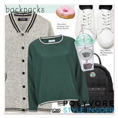 """""""Rule School: Cool Backpacks"""" by paculi ❤ liked on Polyvore featuring Ganni, Pusheen, backpacks, contestentry and PVStyleInsiderContest"""