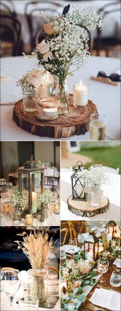 Table decoration wedding winter 15 best photos - # check more at . - Table decoration wedding winter 15 best photos – # Check more at … - Table Decoration Wedding, Wedding Decorations On A Budget, Rustic Wedding Centerpieces, Wedding Rustic, Wedding Country, Wedding Vintage, Rustic Vases, Vintage Centerpieces, Rustic Party Decorations