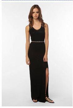 black slit maxi dress