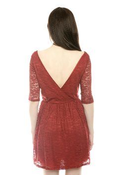 {Surplice Back Lace Dress} by Hears - love that V back!