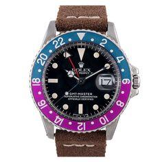 1stdibs   ROLEX Stainless Steel GMT-Master Color-Change Magenta Bezel