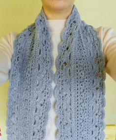 Crochet Lace Scarf Ready to Ship Elegant by LindenLeasCrochet