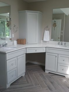 Remodel Rustic Yet Elegant Master Bathroom Herringbone Wood Tile