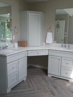 Remodel Rustic Yet Elegant Master Bathroom Herringbone Wood Tile