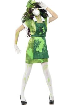 Ladies Opaque Zombie Bite Bruised Halloween Fancy Dress Costume Outfit Tights