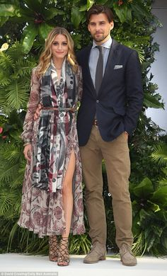 naimabarcelona: Olivia Palermo looks elegant and chic in stunning floral dress with husband Johannes Huebl at the Chadstone 'Icons of Style' launch in Melbourne