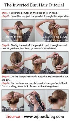 The Inverted Bun Hair Tutorial | PinTutorials