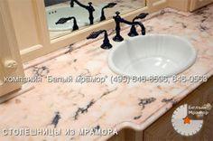 Каменные столешницы для ванной комнаты.