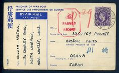 144160 - Lot 359 - Great Britain - Covers - GB GVI 3d Japanese POW Stationery Postcard used to Osaka… / MAD on Collections - Browse and find over 10,000 categories of collectables from around the world - antiques, stamps, coins, memorabilia, art, bottles, jewellery, furniture, medals, toys and more at madoncollections.com. Free to view - Free to Register - Visit today. #Stamps #PostalHistory #MADonCollections #MADonC