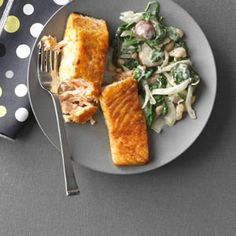 Salmon Skillet Recipe | Taste of Home Recipes