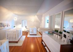 belle maison: Before & After: Nursery for Triplets