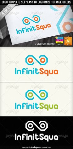 Abstract Squares Infinity Logo Template
