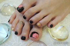 Sandal season or not, your toes should always look impeccable! These 55 cute toe nail designs will inspire you to reach for the closest nail polish bottles. Cute Toe Nails, Toe Nail Art, Fancy Nails, Love Nails, Pretty Nails, Fingernail Designs, Toe Nail Designs, Summer Toe Nails, Pedicure Designs